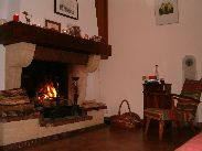 The fireplace in the livingroom
